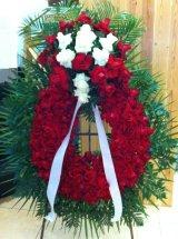 Corona ovalada rosas tanatorio sant just corona oval de rosas - Tanatorio sant gervasi ...